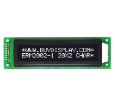3.3V or 5V Character Display LCD 20x2 Arduino Module,White on Black ERM2002DNS-1